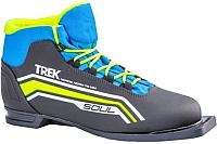 Ботинки для беговых лыж TREK Soul 6 NN75 (черный/лайм, р-р 34) -