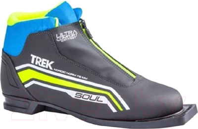 Ботинки для беговых лыж TREK Soul Comfort 6 (черный/лайм, р-р 44)