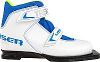 Ботинки для беговых лыж TREK Laser 2 (белый/синий, р-р 35) -