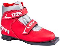 Ботинки для беговых лыж TREK Laser 3 (красный/серебристый, р-р 31) -