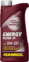 Моторное масло Mannol Energy Ultra JP 5W20 API SN / MN7906-1 (1л) -