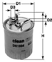 Топливный фильтр Clean Filters DN1904 -