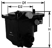 Топливный фильтр Clean Filters MGC1683 -