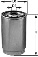 Топливный фильтр Clean Filters DNW1996 -