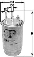 Топливный фильтр Clean Filters DNW1999 -