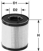 Топливный фильтр Clean Filters MG1652 -