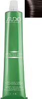 Крем-краска для волос Kapous Studio Professional с женьшенем и рисовыми протеинами 3.0 (темно-коричневый) -