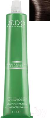 Крем-краска для волос Kapous Studio Professional с женьшенем и рисовыми протеинами 5.81 (светлый коричнево-пепельный)