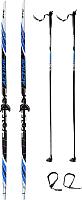 Комплект беговых лыж STC Step 0075 160/120 -