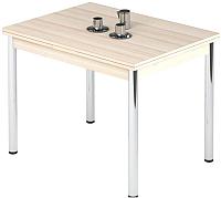 Обеденный стол Импэкс Leset Марсель 2Р (метал хром/дуб) -