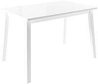 Обеденный стол Импэкс Leset Морон (металл белый/стекло белое) -