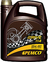 Моторное масло Pemco iDrive 114 15W40 CG-4/CF-4/CF/SL / PM0114-5 (5л) -