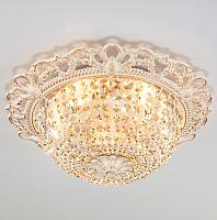 Потолочный светильник Евросвет Ajmeri 3298/5 (бело-золотой/прозрачный хрусталь) -