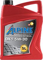 Моторное масло ALPINE DX1 5W30 / 0101662 (5л) -