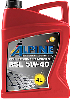 Моторное масло ALPINE RSL 5W40 / 0100148 (4л) -