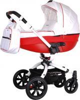 Детская универсальная коляска Coletto Messina 2 в 1 (бело-красный) -
