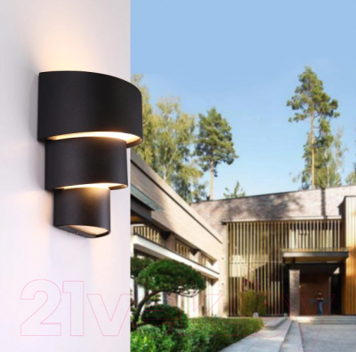 Бра уличное Elektrostandard Helix 1535 Techno LED (черный)