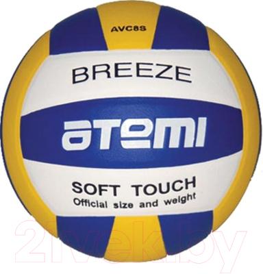 Мяч волейбольный Atemi Breeze Microfiber (синий/жёлтый/белый)
