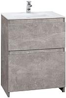 Тумба под умывальник Belux Сидней-Женева Н60-02 (31, бетон Чикаго/светло-серый) -
