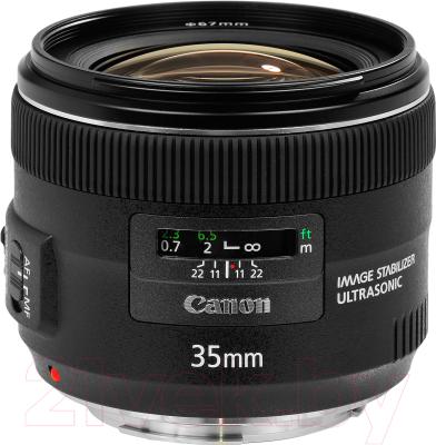 Широкоугольный объектив Canon EF 35mm f/2.0 IS USM объектив canon 10 22mm f 3 5 4 5 ef s usm canon ef s [9518a007]