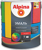 Эмаль Alpina Универсальная (750мл, шоколадный глянцевый) -