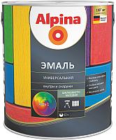 Эмаль Alpina Универсальная (750мл, белый шелковисто-матовый) -