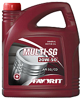 Моторное масло Favorit Multi SG 20W50 API SG/CD / 52063 (5л) -