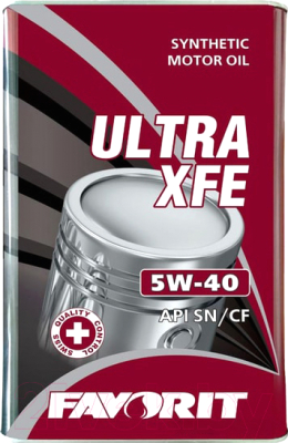 Моторное масло Favorit Ultra XFE 5W40 API SN/CF Metal / 54394 (5л)