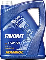 Моторное масло Mannol Favorit 15W50 SL/CF-4 / MN7510-5 (5л) -