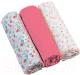 Набор пеленок детских BabyOno Муслиновые. Супер мягкие / 348/02 (3шт, розовый) -