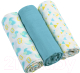 Набор пеленок детских BabyOno Муслиновые. Супер мягкие / 348/03 (3шт, голубой) -