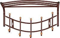 Вешалка для одежды Ника ВНП4Д/К (коричневый) -