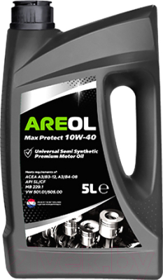 Моторное масло Areol Max Protect 10W40 / 10W40AR001 (5л)