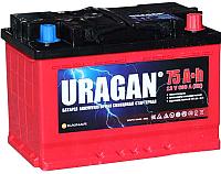 Автомобильный аккумулятор Uragan 75 R+ / 075 30 15 01 0201 09 11 9 L (75 А/ч) -