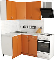 Готовая кухня Хоум Лайн Агата 1.2x1.3 (оранжевый) -