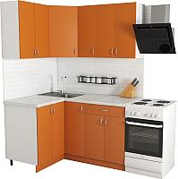 Готовая кухня Хоум Лайн Агата 1.2x1.5 (оранжевый) -