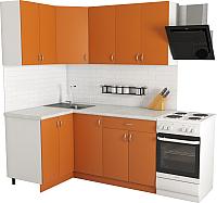 Готовая кухня Хоум Лайн Агата 1.2x1.7 (оранжевый) -