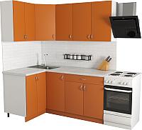 Готовая кухня Хоум Лайн Агата 1.2x1.8 (оранжевый) -
