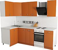 Готовая кухня Хоум Лайн Агата 1.2x1.9 (оранжевый) -