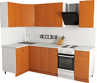Готовая кухня Хоум Лайн Агата 1.2x2.0 (оранжевый) -