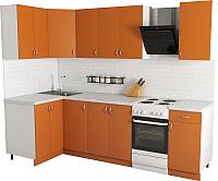 Готовая кухня Хоум Лайн Агата 1.2x2.1 (оранжевый) -