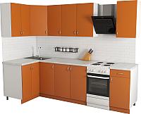 Готовая кухня Хоум Лайн Агата 1.2x2.2 (оранжевый) -