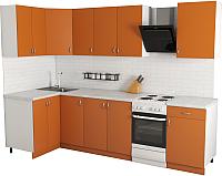 Готовая кухня Хоум Лайн Агата 1.2x2.3 (оранжевый) -