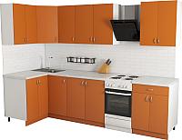Готовая кухня Хоум Лайн Агата 1.2x2.4 (оранжевый) -