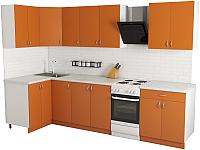 Готовая кухня Хоум Лайн Агата 1.2x2.5 (оранжевый) -