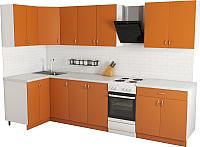 Готовая кухня Хоум Лайн Агата 1.2x2.6 (оранжевый) -