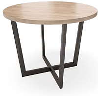 Обеденный стол Грифонсервис Loft СМ1 (черный/тик) -