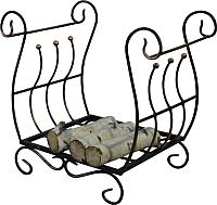 Дровница для камина Грифонсервис НК7 (черный в золоте) -