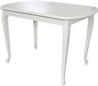 Обеденный стол Аврора Прага 110x70 (Тон 9/эмаль белая) -