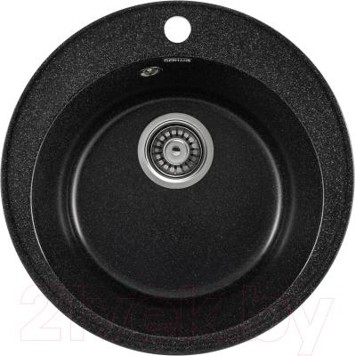 Мойка кухонная Gerhans A05 + смеситель LL5936B-22 (черный)